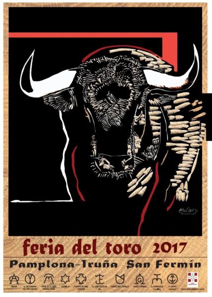 Un cartel de José Antonio Eslava anuncia la Feria del Toro 2017