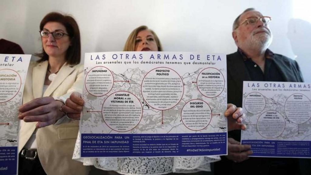 """Resultado de imagen de Víctimas, políticos e intelectuales vascos reclaman en un manifiesto un fin de ETA """"sin impunidad"""""""