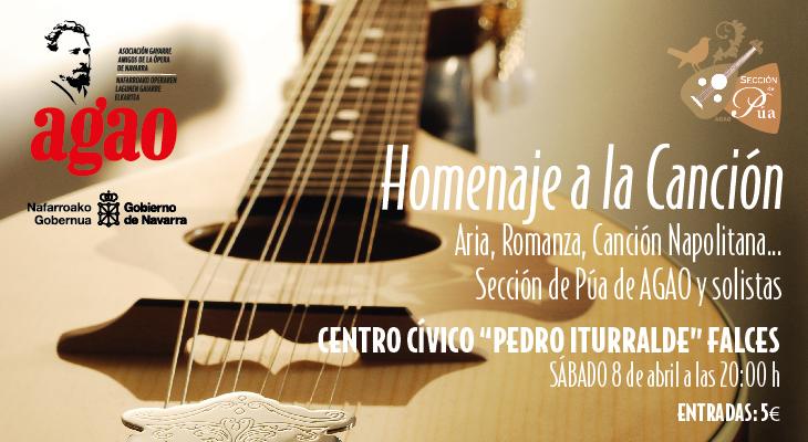 AGENDA: 8 de abril, Pedro Iturralde de Falces (Navarra), Sección de Púa de AGAO y solistas