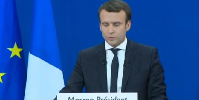 """Macron: """"El pueblo francés ha decidido ponerme en cabeza"""""""