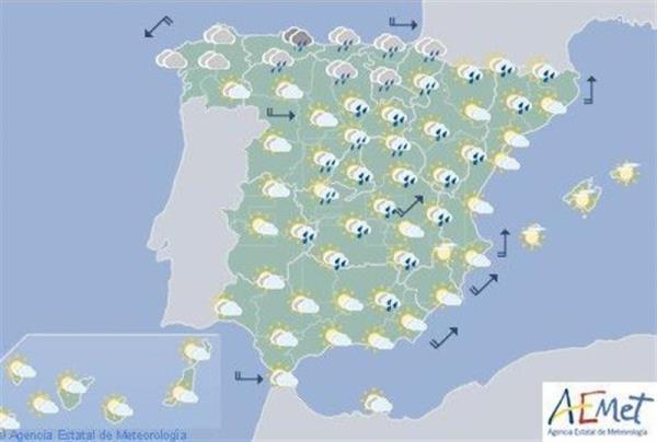 La inestabilidad se generaliza hoy y caen las temperaturas en Navarra con lluvias y chubascos