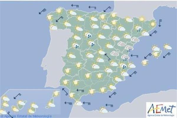 Temperaturas en descenso hoy, en Navarra poco nuboso