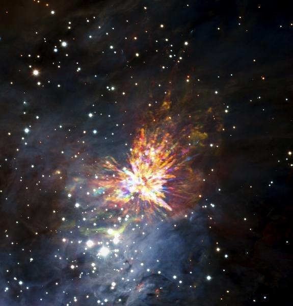 El nacimiento de una estrella: espectaculares fuegos artificiales cósmicos