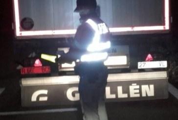 Inmovilizado un camión en la AP68 tras ofrecer positivo en drogas sus dos conductores