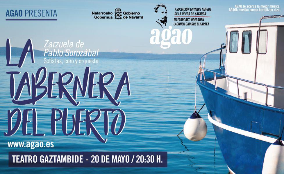 AGENDA: 20 de mayo, en Teatro Gaztambide (Tudela), Zarzuela con AGAO