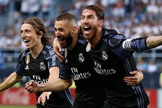 0-2: El Real Madrid no falla en Málaga y se ciñe su 33 corona liguera