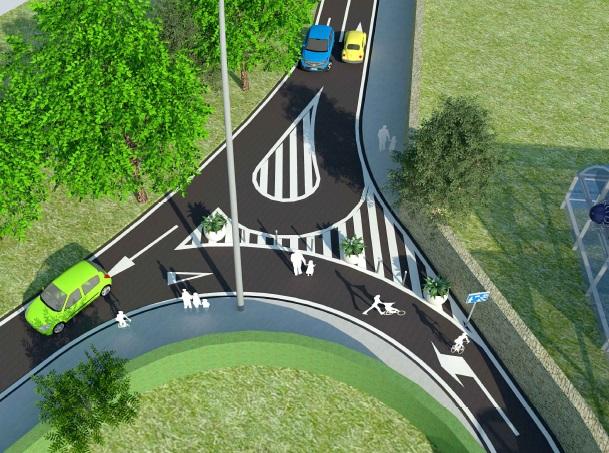 Nueva calle para mejorar la conexión entre el barrio pamplonés de Orvina y el municipio de Burlada