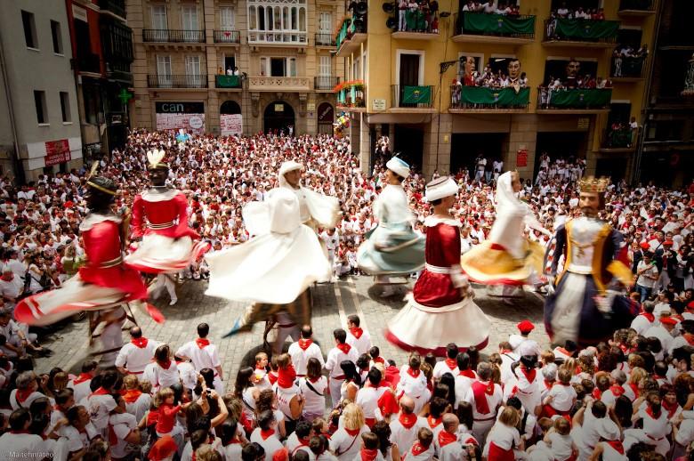 Fin de semana multitudinario en el Casco Viejo de Pamplona