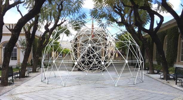 Una espectacular cúpula geodésica iluminará las Bodegas Osborne durante el Art Puerto 2017