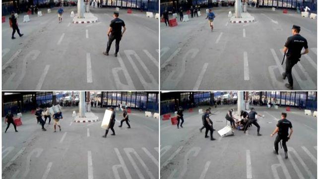 A disposición judicial el asaltante armado de la frontera de Melilla