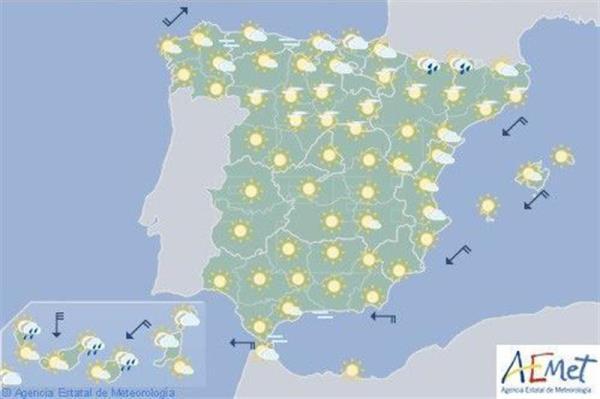Hoy vuelve el calor al interior peninsular, en Navarra máximas en aumento y viento flojo