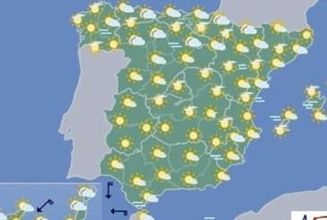Temperaturas altas en el sur peninsular, en Navarra disminuyen nubosidad y  temperaturas