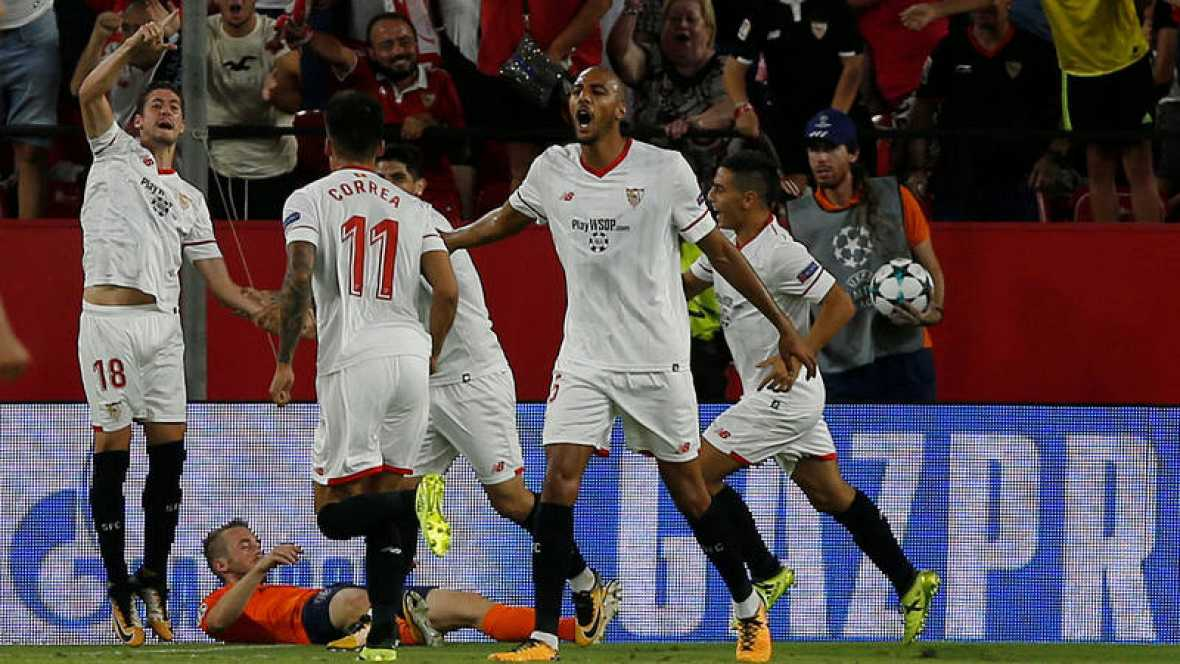 3-0: El Sevilla golea y suma su primer triunfo ante el débil Maribor
