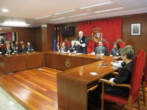 Joaquín Galvé durante su intervención ante el TSJN.
