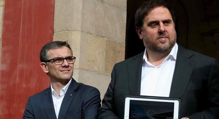 En libertad con cargos todos los detenidos por el referéndum, incluido el 'número 2' de Junqueras