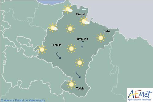 Hoy en Navarra despejado con brumas matinales y temperaturas en ascenso