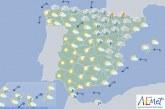 Hoy en España chubascos y tormentas en el nordeste, poco nuboso en el resto