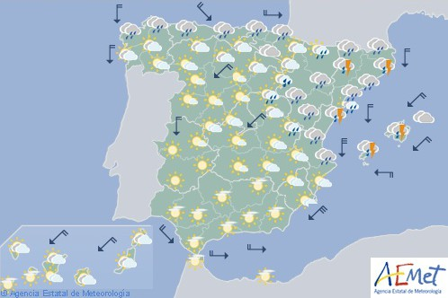 Hoy en España las temperaturas se desploman y la nieve llega al Pirineo