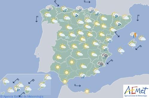 Hoy en España caen las temperaturas por debajo de lo normal en estas fechas