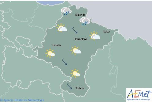 Hoy en Navarra chubascos en el noroeste con probables tormentas en Pirineos