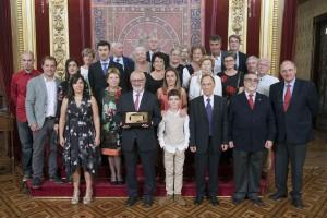Jesús Elso junto a familiares y compañeros