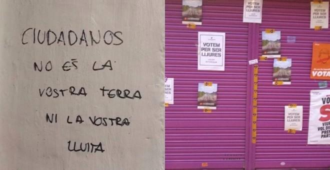 Aparecen pintadas intimidatorias contra Rivera en el comercio de sus padres
