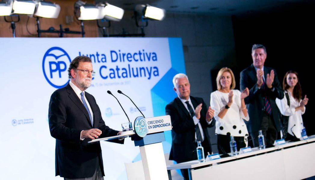 Rajoy apunta al 155: «Están cometiendo un error y nos van a obligar a lo que no queremos llegar»