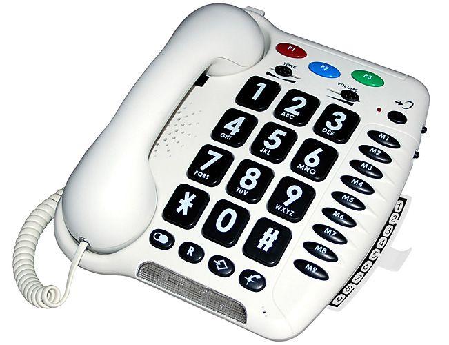 Teléfonos de fácil uso para personas mayores o con problemas auditivos y visuales