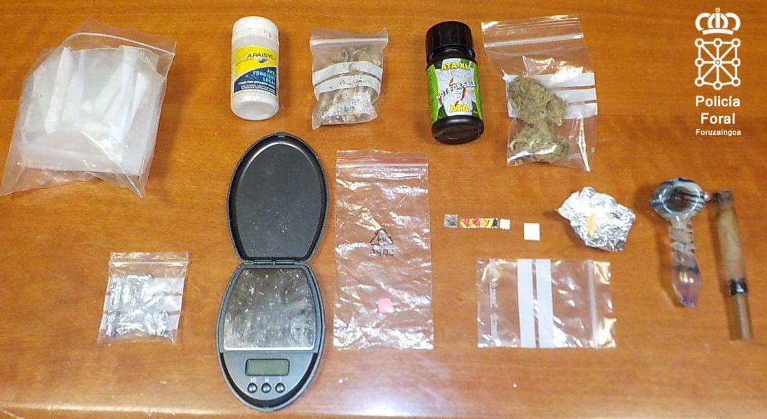 Detenida una pareja en Errazu por tráfico de drogas