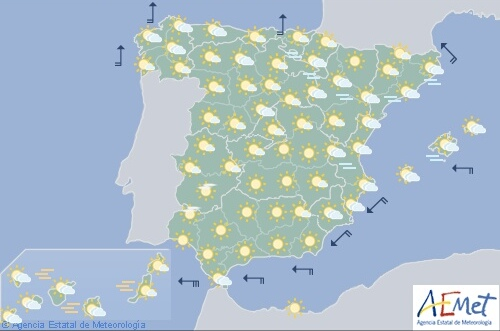 Viento fuerte en el Estrecho y en el litoral atlántico de Galicia con temperaturas significativamente altas