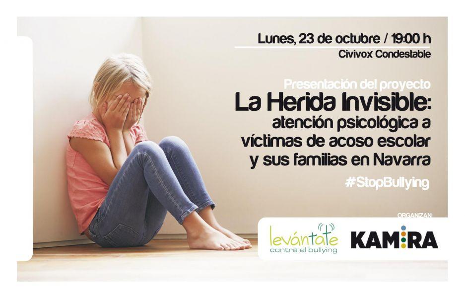 AGENDA: 23 de octubre, en Civivox Condestable, presentación del proyecto: 'La Herida Invisible'