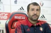 """Diego Martínez: """"Necesitamos al equipo y a El Sadar en su mejor versión para sacar el partido adelante"""""""