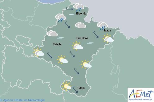 En Navarra lluvioso en el noroeste tendiendo a cesar por la tarde