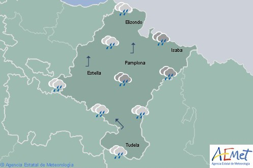 En Navarra cubierto con lluvias y chubascos