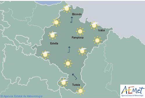 Despejado en Navarra, temperaturas con pocos cambios