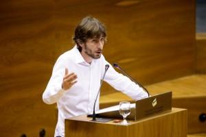 Mikel Buil, portavoz parlamentario de Podemos.