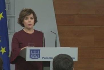 Sáenz de Santamaría asegura que Puigdemont tiene aún «una oportunidad» de evitar el 155