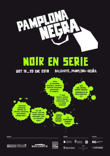 El Festival Pamplona Negra traerá 'Noir en serie'  en enero a Baluarte