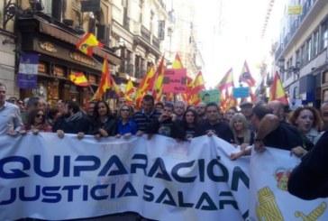 Multitudinaria protesta de policías y guardias civiles para pedir la igualdad salarial