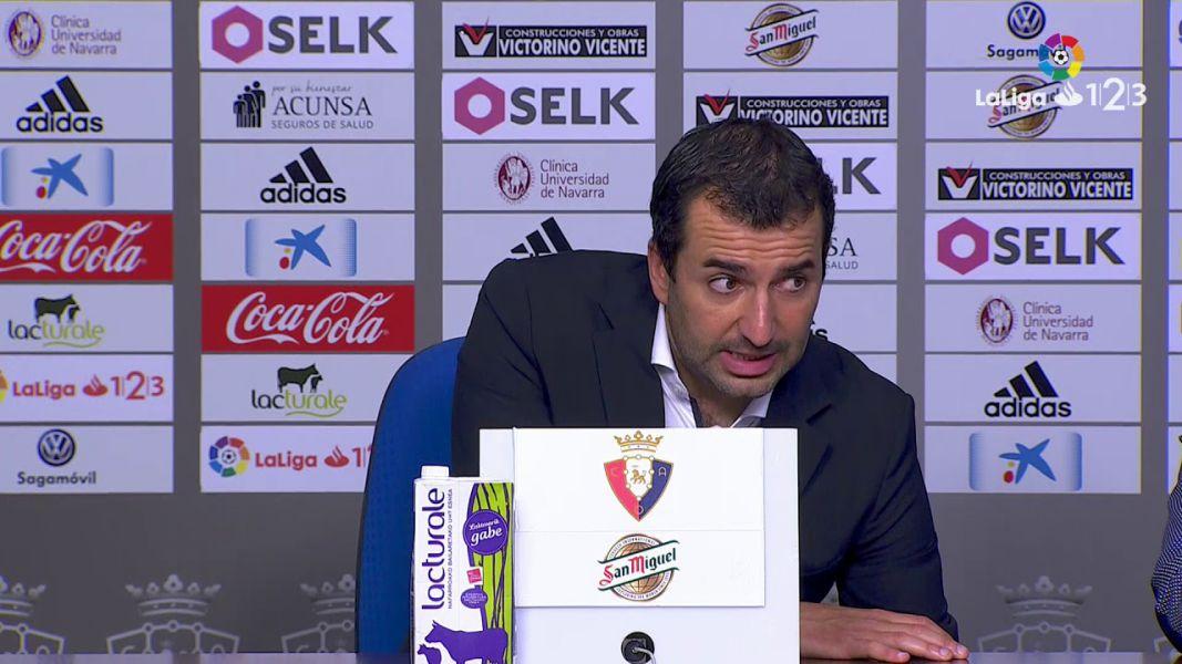 Diego dice que Osasuna inicia el año con la esperanza de «crecer como equipo»