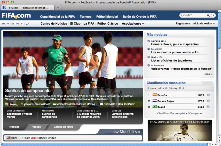 El idioma español reclama su sitio en las webs deportivas