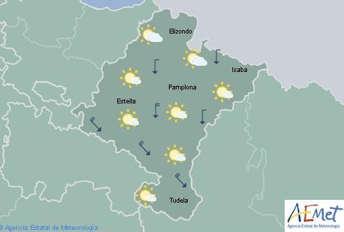 En Navarra intervalos nubosos en el tercio norte y oeste con temperaturas en ascenso