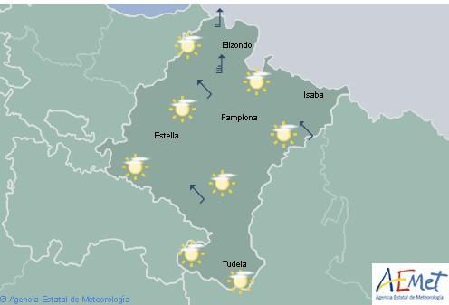 En Navarra cielo tendiendo a nuboso con precipitaciones de oeste a este