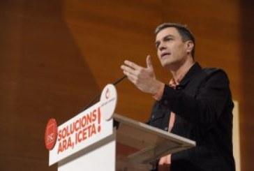 Sánchez tacha a Rajoy de «irresponsable» por haber «confrontando territorios»