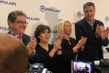 Sáenz de Santamaría pide el voto para el PP para acabar de «liquidar» al independentismo