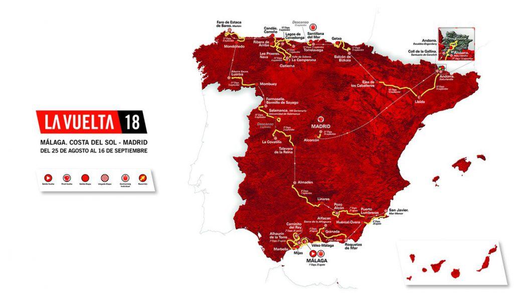 La Vuelta 2018 dará espectáculo con montaña, una crono larga y un final explosivo