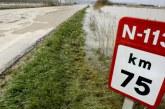 Instan a modificar la N-113 a su paso por Castejón para evitar inundaciones