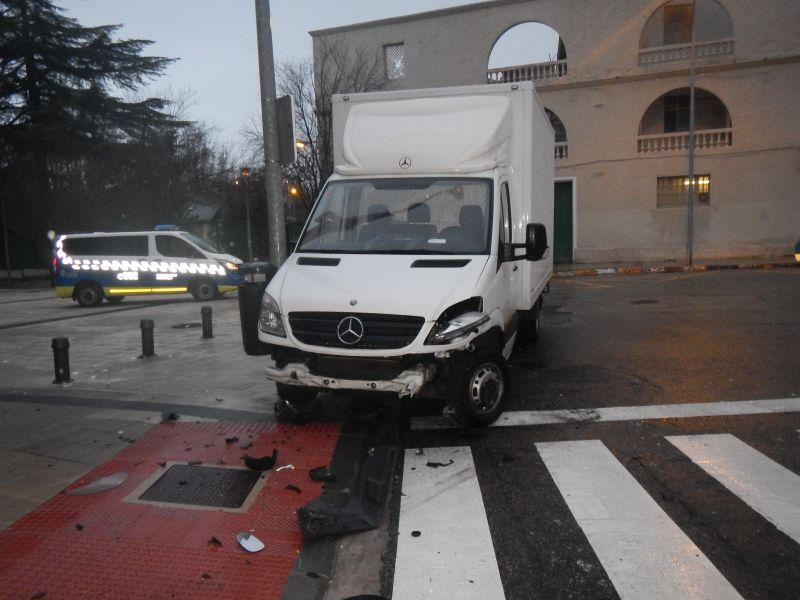 furgoneta accidente