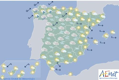 Temperaturas altas en el litoral mediterráneo, Ebro y valle del Guadalquivir