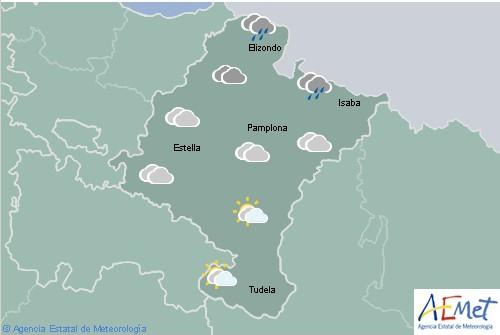 En Navarra cielo nuboso o cubierto con intervalos nubosos en la Ribera